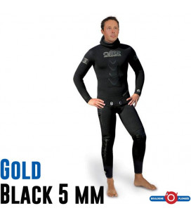 OMER GOLD BLACK VESTE+PANTALON 5mm