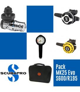 Pack MK25 Evo DIN / S600 / R195 Scubapro