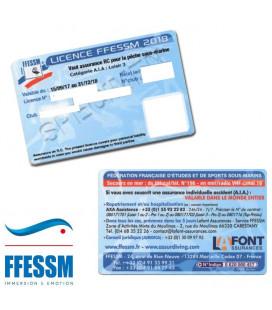 LICENCE FFESSM 2018
